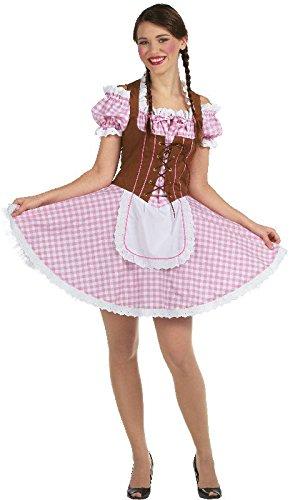 Damen Kostüm sexy Dirndl Tracht Oktoberfest Karneval Fasching Gr.36