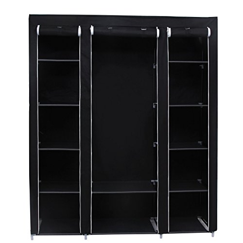 songmics-59-portable-clothes-closet-wardrobe-non-woven-fabric-storage-organizer-black-ulsf03h