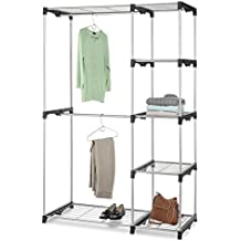 Whitmor Double Rod Freestanding Closet Silver