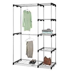 The Whitmor Double Rod Freestanding Closet offers you a sturdy option for creating garment, shoe and accessory storage. Made with steel and heavy duty resin connectors, it is strong enough to hold your possessions while being light enough to move. Fe...