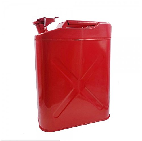 5 Gallon 20L Metal Gas Tank Can Europe Style Gas Can Power Emergency Backup Tank with Flexible Spout Red US Stock Teekland