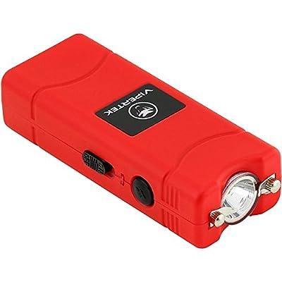 VIPERTEK VTS-881 - 7 Billion Micro Stun Gun - Rechargeable with LED Flashlight, Red