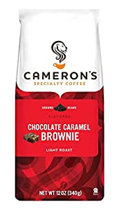 Cameron's Chocolate Caramel Brownie Ground Coffee, 12-Ounce Bags (Pack of 3)