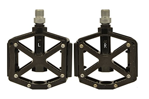Bearings Inch Sealed (Lumintrail PD-603S MTB BMX Road Mountain Bike Platform Pedals Flat Alloy Sealed Bearing 9/16