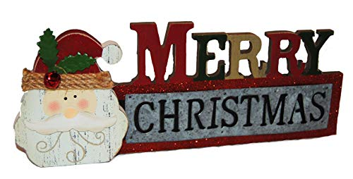 Christmas Holiday Rustic Desktop Decor (Red Merry Christmas)