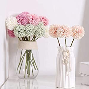 Jasion 10pcs Artificial Chrysanthemum Ball Flowers Bouquet for Present Home Office Coffee House Parties and Wedding Decoration 5