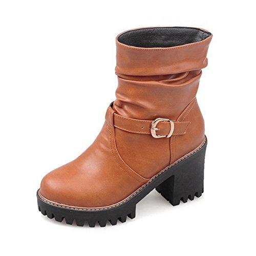 BalaMasa Girls Wheeled Heel Shoes Studded Rhinestones Metal Buckles Imitated Leather Boots