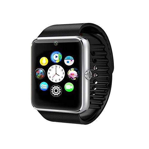 Time4Deals® GT08 Bluetooth Smart Watch Armband mit SIM-Karten-Slot und NFC Smart Health Watch for Android-Smartphone und IOS Apple Iphone - Silber