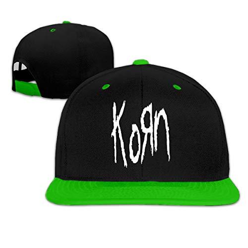 Korn Hip-Hop Baseball Cap Flat Brim Hat,Rock Rapper Caps Unisex -