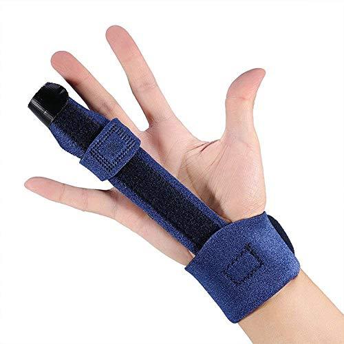 Finger Splint for Arthritis, Broken Finger,Trigger Finger, Mallet Finger - Adjustable Fixing Belt with Built-in Aluminium - Thumb Finger Brace Fits Middle Index Ring All Fingers (Blue)