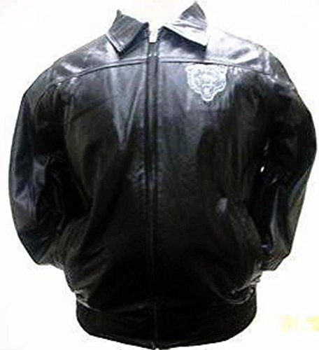 Licensed Sports Apparel Chicago Football Bears Logo Leather Jacket (Black) - XL ()