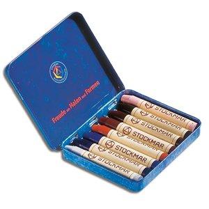 Stockmar Stick Crayons (Stockmar Wax Stick Crayons - 8 Colors Supplementary Assortment)