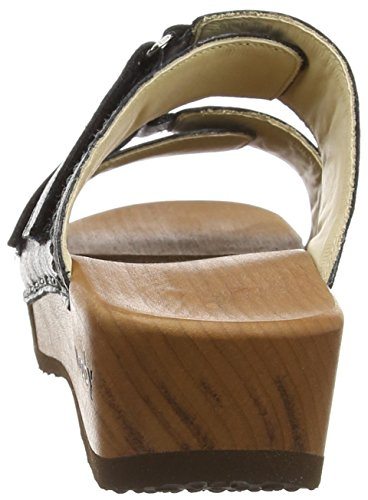 Mules Femme Melina Noir Antracite Woody wSq6YTUUx