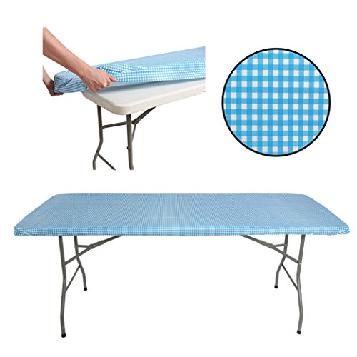 Tablecloth for 6ft folding table -Fitted Rectangular Table