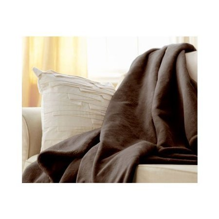 Sunbeam Luxurious Velvet Plush Heated Throw Blanket with 3 Heat Settings Digital Control and Auto-off - Dark Brown (Sunbeam Plush Blanket compare prices)