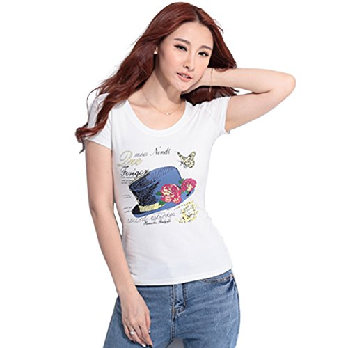 Custom Girl's O Neck T-Shirt Short Sleeve Cotton Tees for Girls Butterfly Hat T shirts (Butterfly T-shirt Hat)