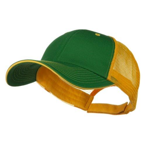 (e4Hats.com Big Size Garment Washed Cotton Twill Mesh Cap - Kelly Gold OSFM)