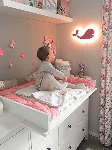 Korona Effekt Wandleuchte f/ürs Kinderzimmer in Form eines gelben Wals mit warmwei/ßer LED Hinterleuchtung Das Wandlicht Eddy ist eine Wandlampe