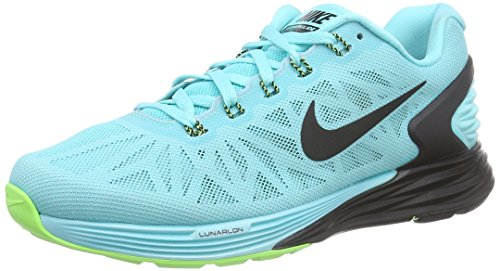 Nike Lunarglide 6 - Zapatillas De Runing para hombre Turquesa (light aqua/black-flash lime 403)