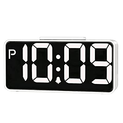 "ZHPUAT 8.9"" Big Screen Digital Alarm Clock with Dimmer and Alarm Sound Control Function"