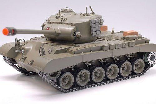 Airsoft Smoking Tank - Snow Leopard M26 Pershing WWII RC Smoking & Sound 1/16 Radio Remote Control Airsoft Battle Tank