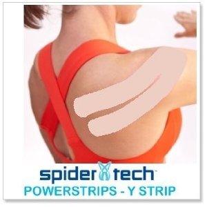 SpiderTech PowerStrips - Kinesiology Tape Precut Y Strips (10 pack) - Beige by SpiderTech PowerStrips