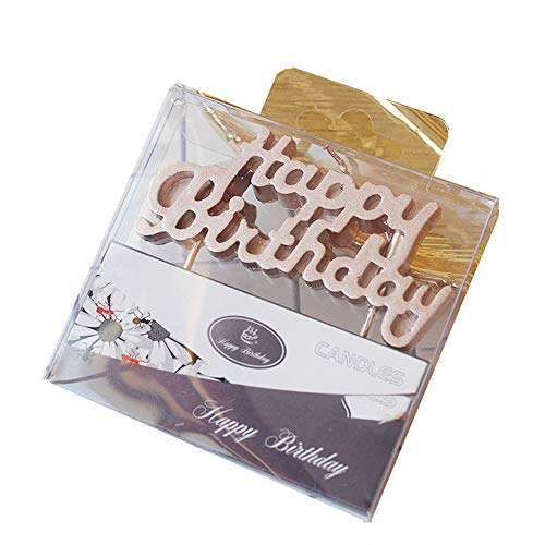 - Mini Small Cake Number Candles One 0 1st 1 2 2nd 3 3rd 4 4th 5 Five 5th Six 6 8 9 15 18 21 30 40 50 50th 60 70 80 Old Happy Birthday Candle Cake Topper Bulk Pink Wax Candle Decor (1, Rosegold Happy)