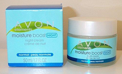 Avon Elements Moisture Boost Night Cream, Normal Skin, 1.7 fl.oz