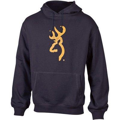 Browning Black Buckmark Hooded Sweatshirt with Gold Ink (XX-Large)