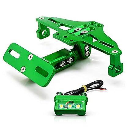 Portamatriculas Viene con Luz de matrícula led para Kawasaki Z250 Z650 Z750R RR Z800 Z900 Z1000 250R 300R 400R 500R 650R 1000R ZX-10R 6R 12R ER6N ...