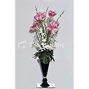 Tall Amaryllis White Gerbera & Orchid Floral Arrangement 32