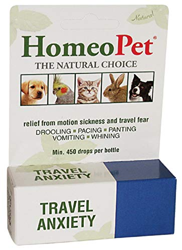 HomeoPet Travel Anxiety Relief for Pets 450 Drops per Bottle (1 Pack)