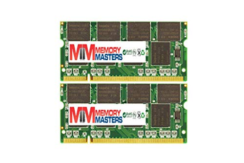 MemoryMasters 2GB (2X1GB) DDR2 400MHz PC2-3200 200-pin SODIMM Laptop Memory RAM