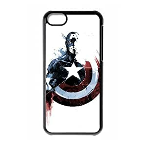 captain americ 009 iPhone 5c Cell Phone Case Black yyfD-357600