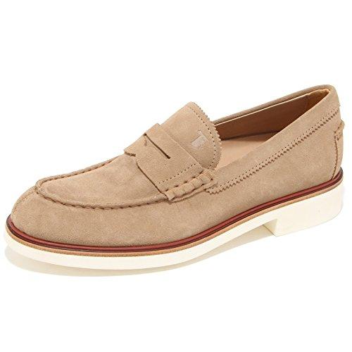 0623L mocassini uomo TODS fondo light scarpe loafers shoes men Beige