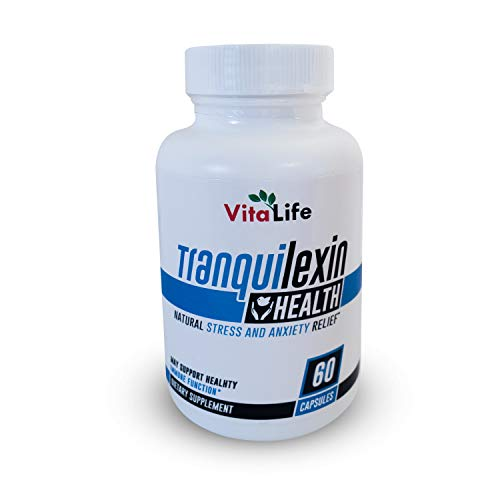 Tranquilexin Ashwagandha Blend Anxiety Relief - Serotonin Stress Supplements and Mood Boost Capsules with GABA and Passion Flower