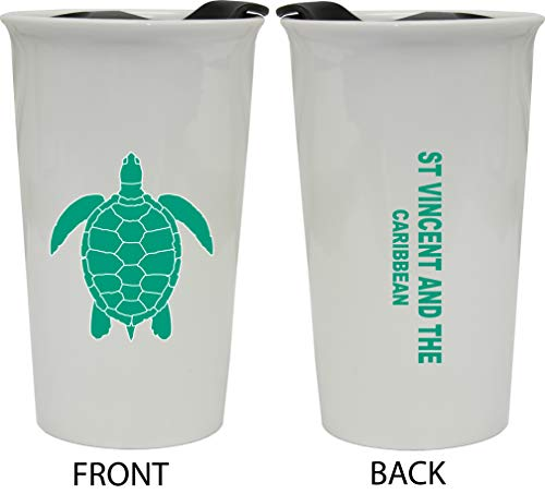 St Vincent And The Grenadines Caribbean Double Walled Ceramic Coffee Tumbler
