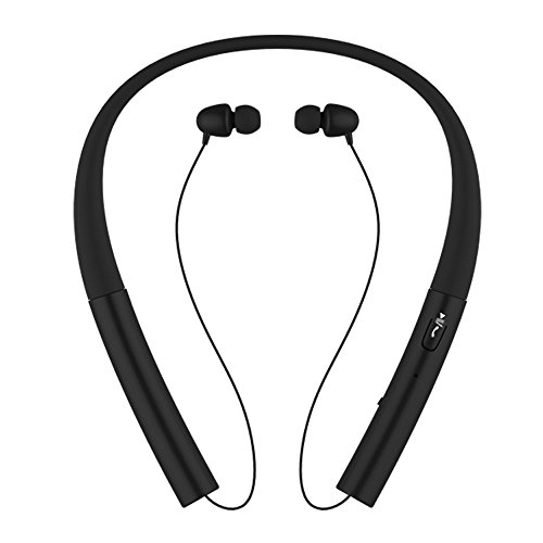 Neckband Bluetooth Headset Pianogic HB-905 V4.0 Music sport Wireless Magnetic Stereo Noise Cancelling Sweatproof Neckband Bluetooth Headphones Retractable Earbuds and Call in Vibration (905 Bluetooth)