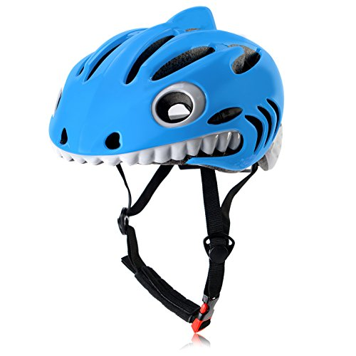 Ultralight Kids Bike Helmets Special Cool Children Safety Helmets Blue Shark Review