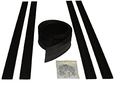 Auto Care Products 54018 18-Feet Garage Door Bottom Seal Kit with Track and Mounting Hardware