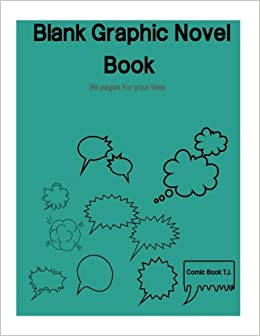 amazon com blank graphic novel book 99 pages for your idea book
