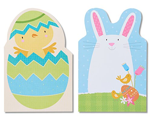 Easter Greetings Chick (American Greetings Chick and Bunny Easter Cards, 6-Count)
