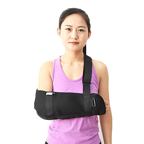 (Medical Orthopedic Arm Sling Shoulder Immobilizer Rotator Cuff Wrist Elbow Forearm Support Brace Strap Lightweight for Broken Fractured Arm (M))