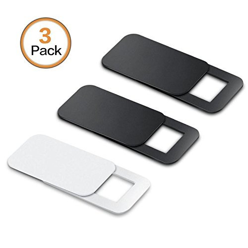 Tintelek Webcam covers (3 Pack) Camera Cover for iPhone, iPad, Laptop, Mac, Tablet, Desktops (2 Black+1 White)