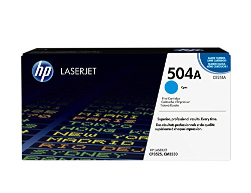 HP 504A (CE251A) Cyan Toner Cartridge for HP Color LaserJet CP3525 CM3530