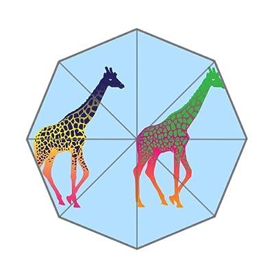 Custom coloré girafes Motif parapluie