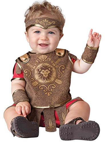 InCharacter Baby Boy's Gladiator Costume, Red/Tan, -