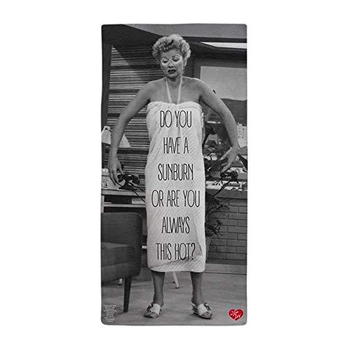 CafePress I Love Lucy Sunburn Large Beach Towel, Soft 30