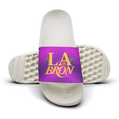 ADIDII Womens Printed Non-Slip Slippers Summer Slides flip Flop Sandals La_Bron_Yellow_Logo_Basketball Summer Slippers Soft B07H2C46FN Shoes c053fe