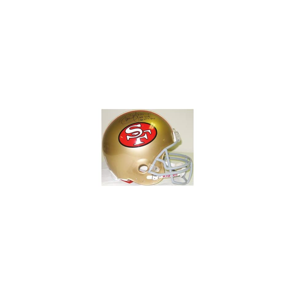 Steve Young Autographed Helmet   Authentic  Sports